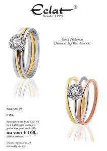Eclat aanbieding ring goud diamant
