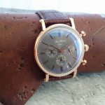Björn Hendal Rose Gold Grey Dial on Brown Croco