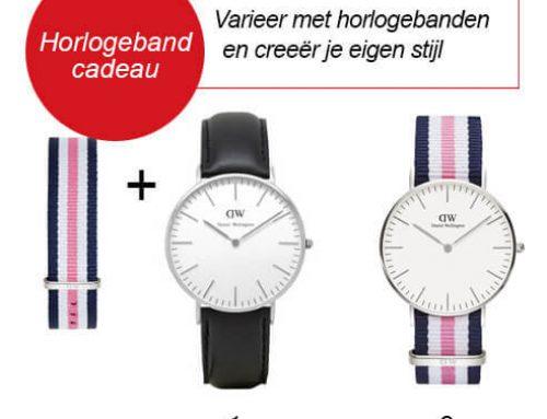 GRATIS horlogeband bij aankoop Daniel Wellington